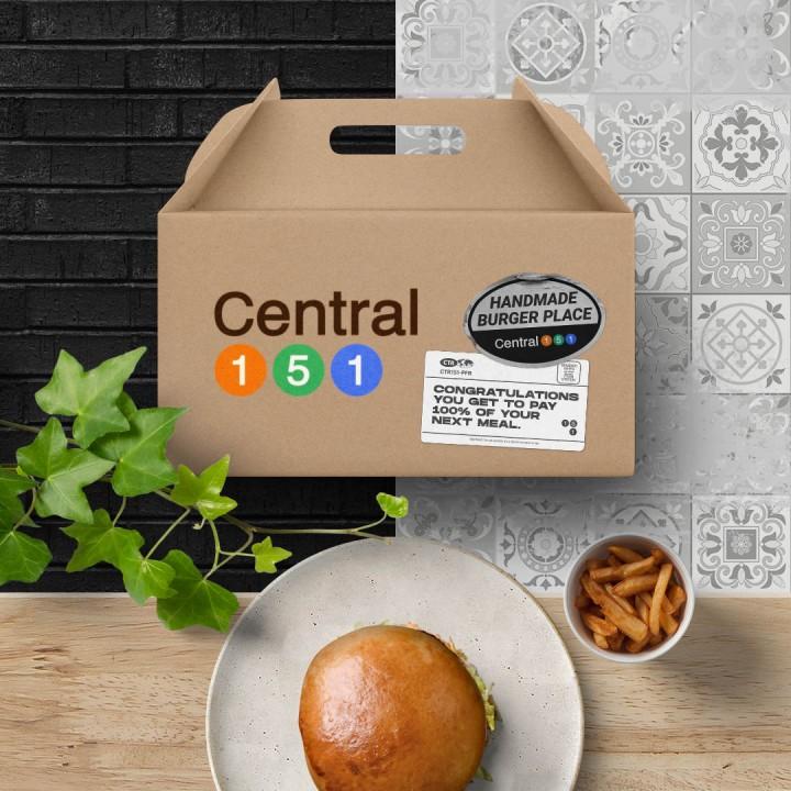Branding burger restaurant – Central 151 | Design by erva